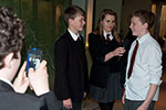 Year 9 students carrying out interviews at the County Museum